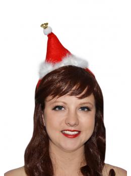 Mini bonnet de noel sur serre tête adulte