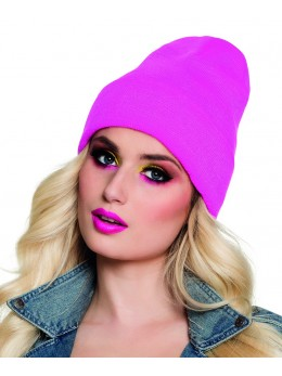 Bonnet fluo rose