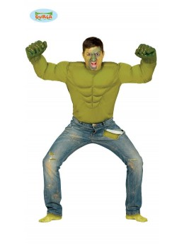 Déguisement chemise verte Angry Hero