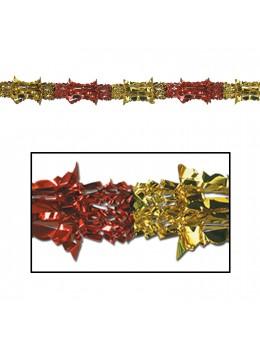 Guirlande métallisée rouge et or 2m70