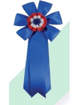 Cocarde conscrit luxe bleu