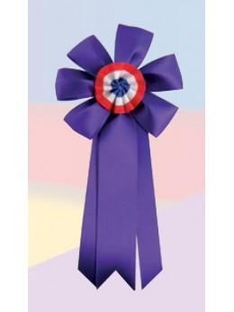 Cocarde conscrit luxe violette