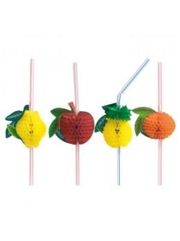 pailles thème fruit