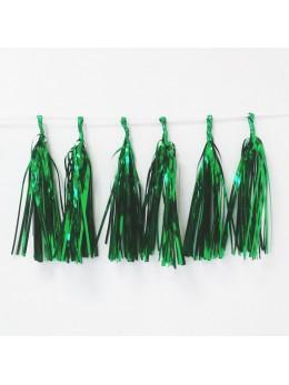 guirlande de tassel vert