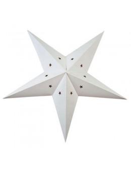 Lanterne étoile papier blanche