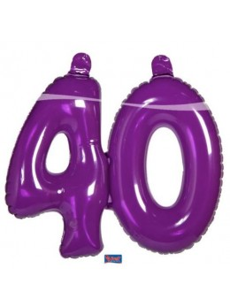 Chiffre gonflable violet 40 ans