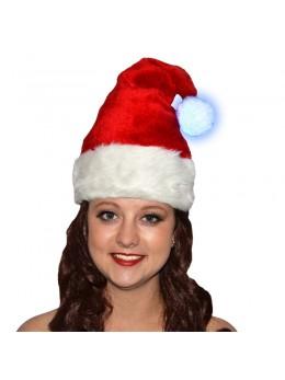 bonnet père Noël pompom lumineux