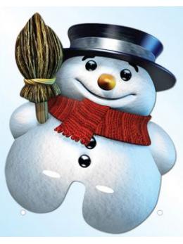 Masque carton bonhomme de neige
