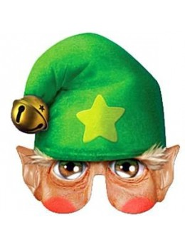 Masque carton elfe