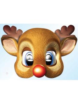 Masque carton Rudolph