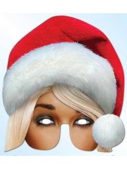 Masque carton mère Noël