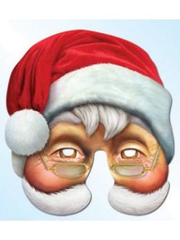Masque carton père Noël