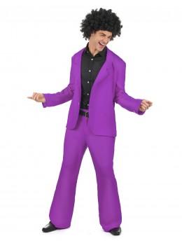 Déguisement homme disco violet