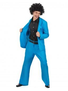 Déguisement homme disco bleu