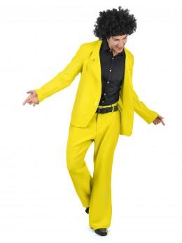 Déguisement homme disco jaune