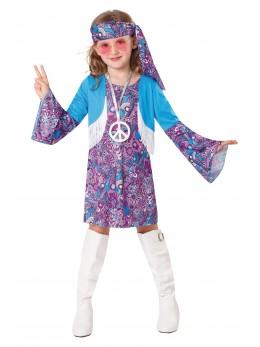 Déguisement hippie fille violet