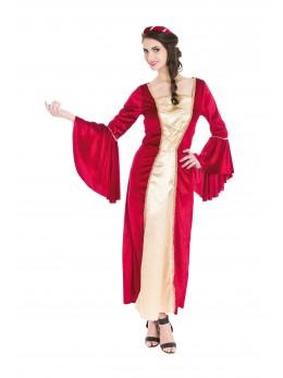 déguisement robe médiévale rouge