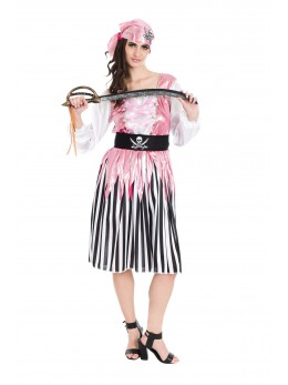 déguisement femme pirate rose