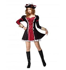 Déguisement pirate femme deluxe