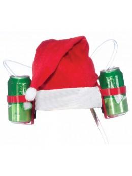 Casque à bière bonnet de Père Noël