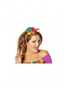 Serre tête hippie fleurs