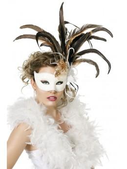 Masque loup Venise blanc