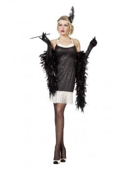 déguisement femme charleston noir
