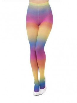 Collants opaque multicolore