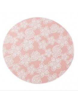 4 set de table rond lin gypsy vieux rose