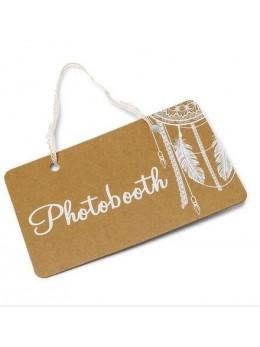 "Pancarte ""Photobooth"" boho 25X15.5cm"