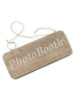 Pancarte bois Photobooth 25x10cm