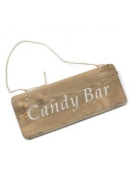 Pancarte bois Candy bar 25x10cm