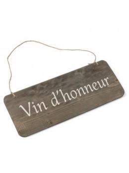 Pancarte bois Vin d'honneur 25x10cm