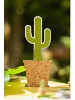 Cactus métal et liège 20cm