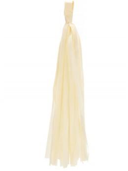 6 Tassels 35cm ivoire