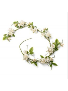 Liane de roses blanche