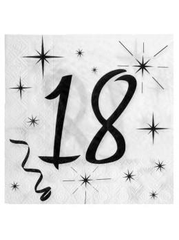 20 serviettes 18 ans