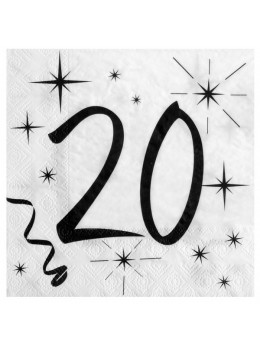 20 serviettes 20 ans