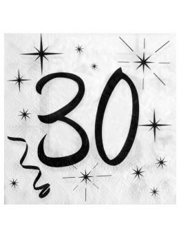 20 serviettes 30 ans