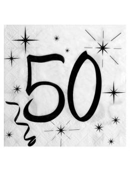 20 serviettes 50 ans