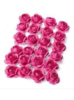 24 Roses fushia 1,3cm