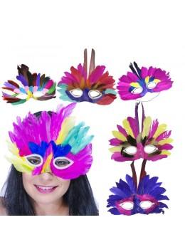 Masque carnaval loup en plumes