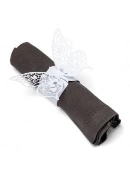 20 ronds de serviette papillon 27x8cm
