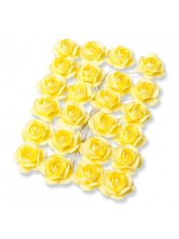 24 Roses jaune 1,3cm