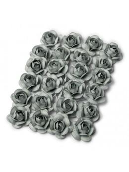 24 Roses grises 1,3cm