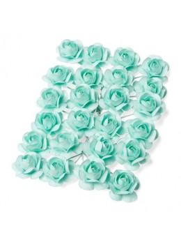 24 Roses menthe 1,3cm