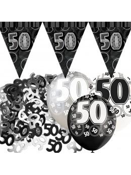 Kit anniversaire noir et argent 50 ans