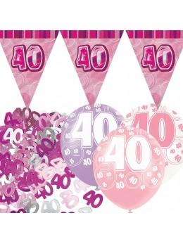 Kit anniversaire rose 40 ans