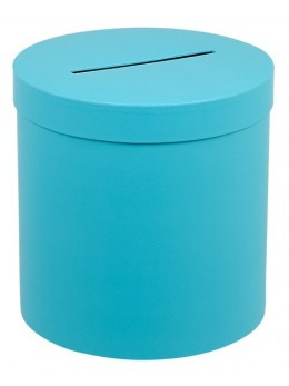 Urne ronde turquoise