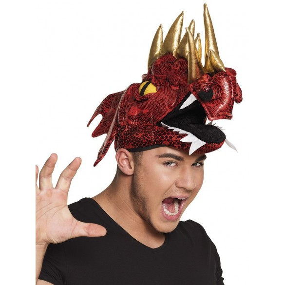 Chapeau dragon rouge